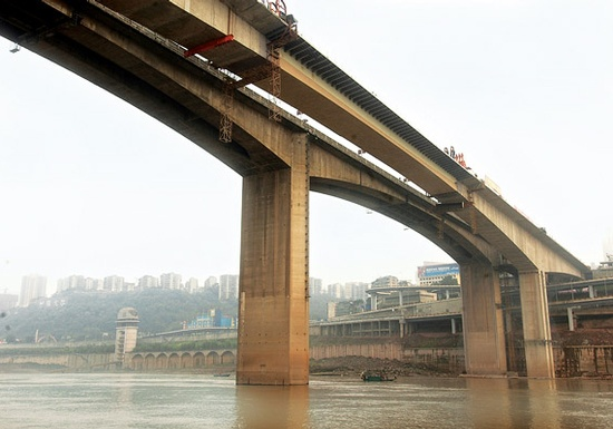 Figure 13 - View of completed Shibanpo Bridge. (Photo courtesy of T.Y. Lin International)